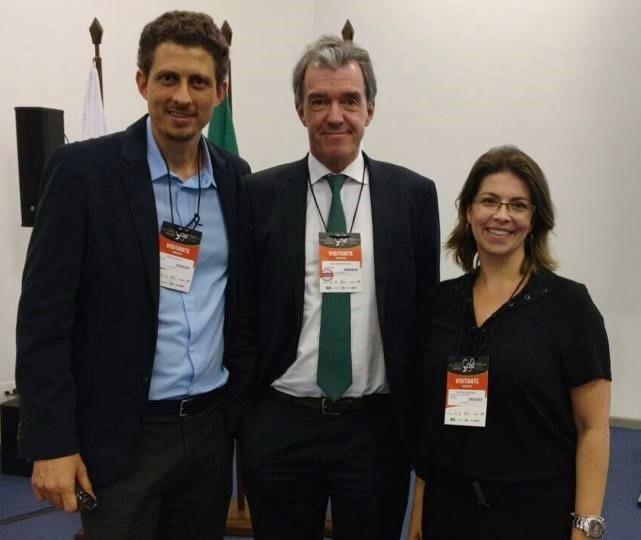 Pedro Ronca, Ted van der Put and Nathália Monea representing GCP on the International Coffee Week. Photo Credit: International Coffee Week Facebook