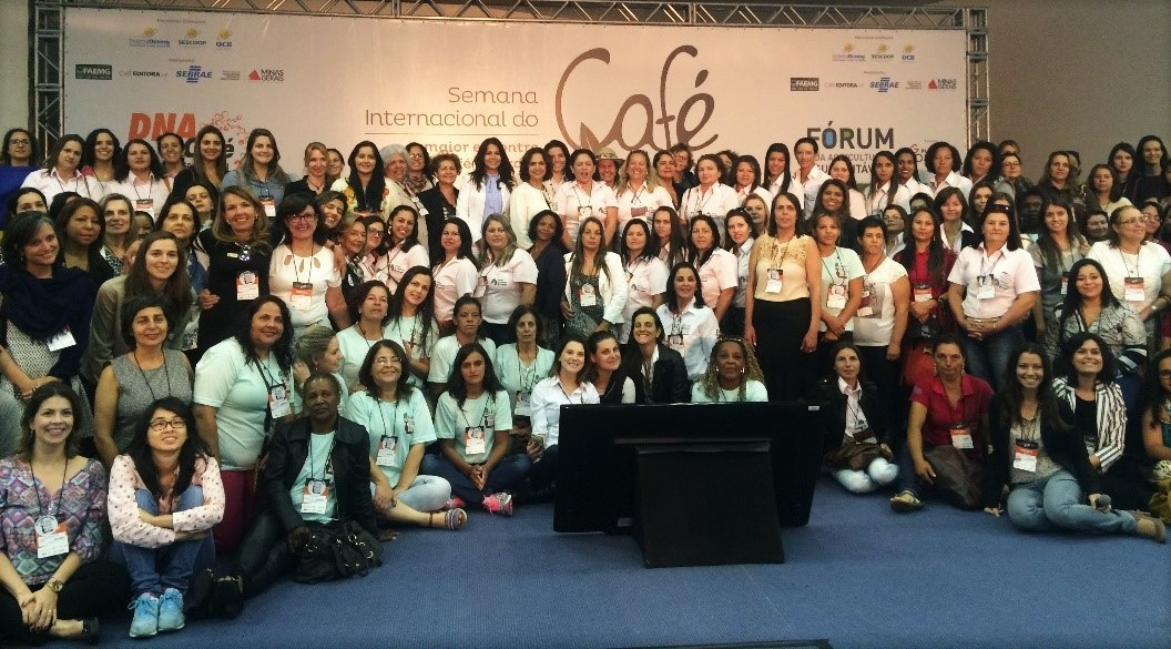 IWCA breakfast and meeting gathered dozens of women from the coffee chain in Brazil, including producers, representatives from Cooperatives, baristas, etc. Credit: Marivi Haro